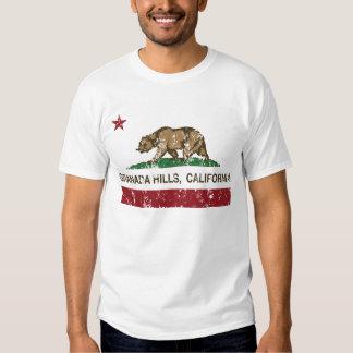 bandera Granada Hills de California apenado Camisetas