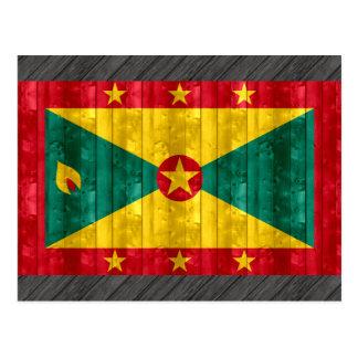 Bandera granadina de madera postal