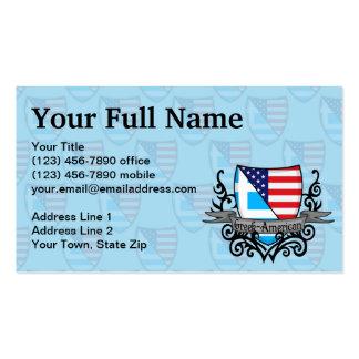 Bandera Griego-Americana del escudo Tarjetas De Visita
