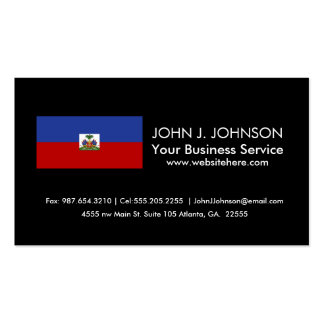 Bandera haitiana clásica tarjetas de visita