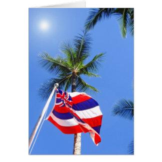 Bandera hawaiana felicitacion