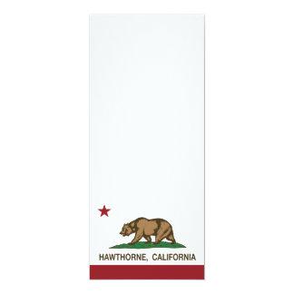 Bandera Hawthorne del estado de California Invitación 10,1 X 23,5 Cm