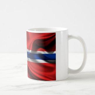 Bandera HD lleno de Noruega Tazas De Café