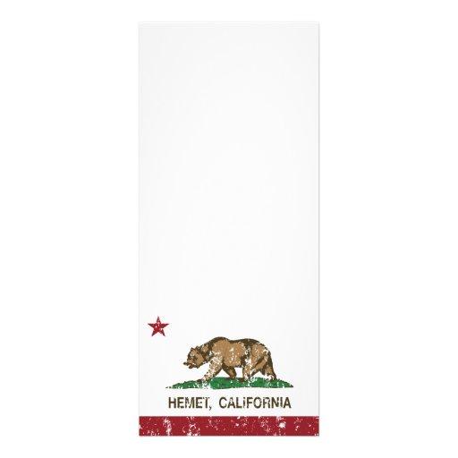 Bandera Hemet del estado de California Comunicado