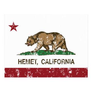 Bandera Hemet del estado de California Postal