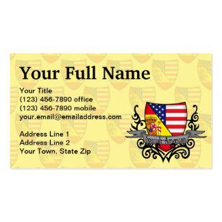 Bandera hispanoamericana del escudo tarjetas de visita