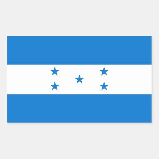 Bandera HN de Honduras Rectangular Pegatina