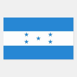 Bandera HN de Honduras Pegatina Rectangular