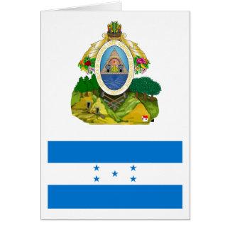 Bandera HN de Honduras Tarjeta De Felicitación