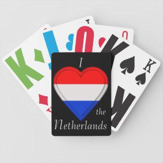 Bandera holandesa de Holanda del holandés de Baraja De Cartas Bicycle