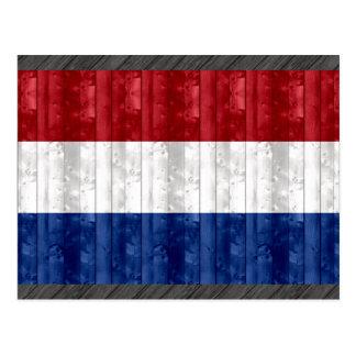 Bandera holandesa de madera postal