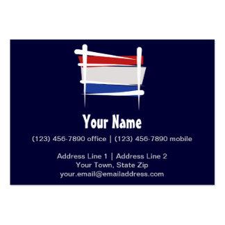 Bandera holandesa del cepillo tarjetas de visita grandes