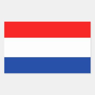 Bandera holandesa pegatina rectangular