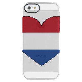 Bandera holandesa simple funda transparente para iPhone SE/5/5s