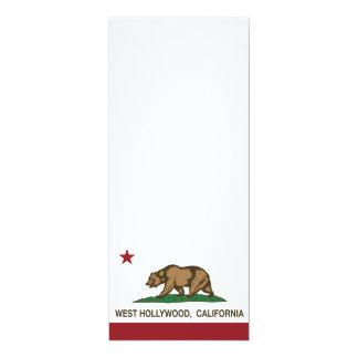 Bandera Hollywood del oeste del estado de Invitación 10,1 X 23,5 Cm