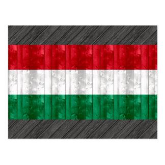 Bandera húngara de madera postal