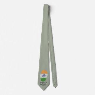 Bandera india de la huella dactilar del tacto corbata