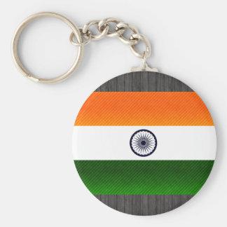 Bandera india pelada moderna llaveros personalizados