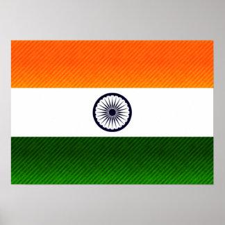Bandera india pelada moderna posters