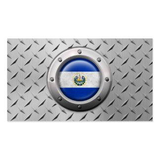 Bandera industrial de El Salvador con el gráfico d Tarjeta De Visita