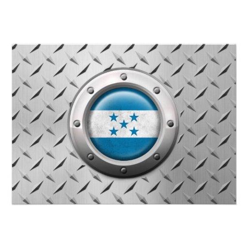 Bandera industrial de Honduras con el gráfico de a Comunicados
