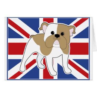 Bandera inglesa del dogo tarjeta de felicitación