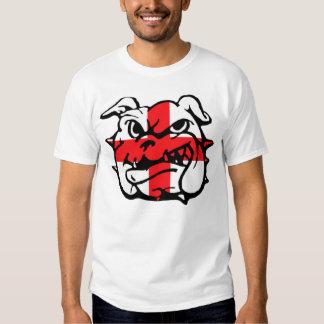 Bandera inglesa, dogo inglés camiseta