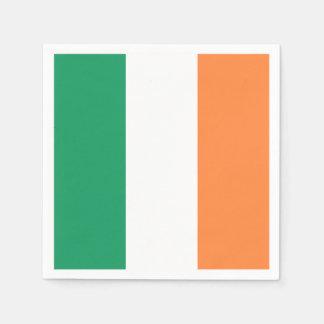 Bandera irlandesa: Fiesta tricolor del día de San Servilletas Desechables