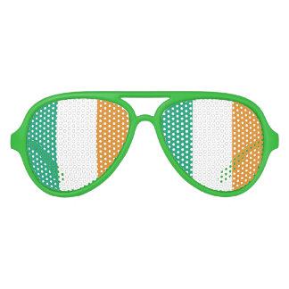 Bandera irlandesa gafas de fiesta de aviador