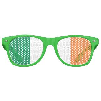 Bandera irlandesa gafas de fiesta retro