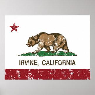 Bandera Irvine del estado de Californi Impresiones