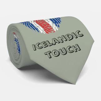 Bandera islandesa de la huella dactilar del tacto corbatas personalizadas