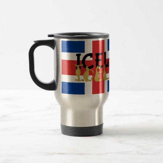 Bandera islandesa del caballo el   de Islandia Taza De Viaje