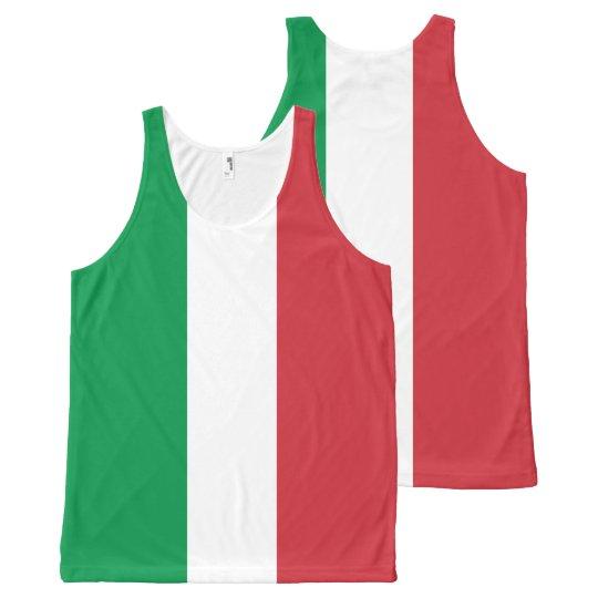 Bandera italiana - bandera de Italia - Italia Camiseta De Tirantes Con Estampado Integral