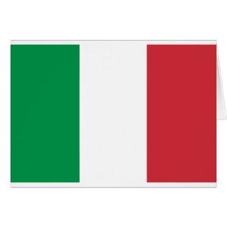Bandera italiana - bandera de Italia - Italia Tarjeta De Felicitación