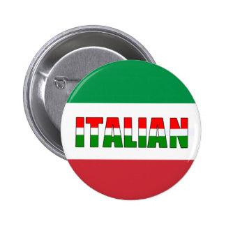 Bandera italiana de Italia Chapa Redonda De 5 Cm