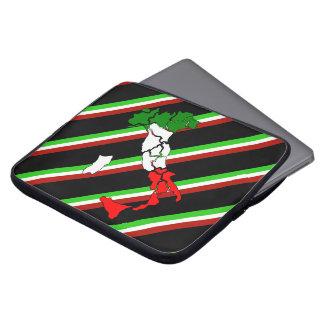 Bandera italiana de las rayas funda para portátil