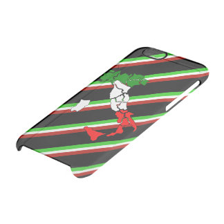 Bandera italiana de las rayas funda transparente para iPhone 6/6s