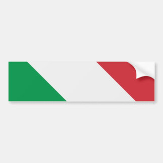 Bandera italiana pegatina para coche