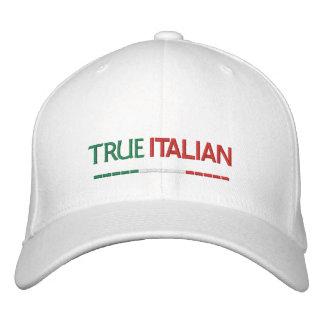 Bandera Italiano-Italiana verdadera Gorra De Beisbol Bordada