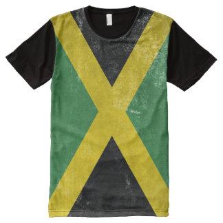 Bandera jamaicana camiseta con estampado integral