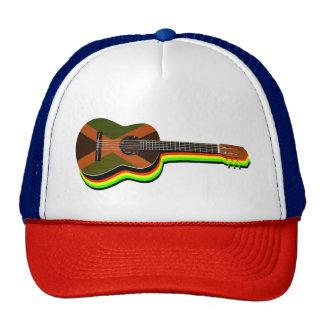 Bandera jamaicana de la guitarra del reggae de gorro de camionero