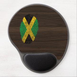 Bandera jamaicana de la huella dactilar del tacto alfombrilla de ratón de gel