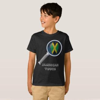 Bandera jamaicana de la huella dactilar del tacto camiseta