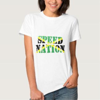 Bandera jamaicana de la nación de la velocidad camiseta