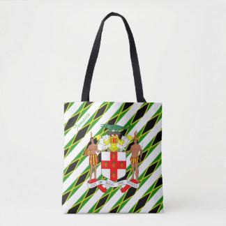 Bandera jamaicana de las rayas bolso de tela