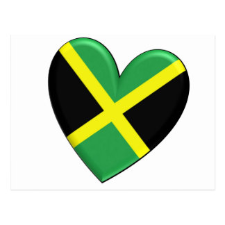 Bandera jamaicana del corazón postal