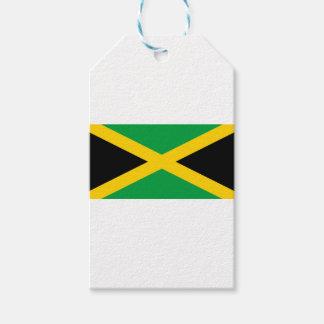 Bandera jamaicana etiquetas para regalos