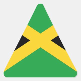Bandera jamaicana pegatina triangular