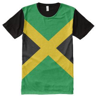 Bandera jamaicana por completo camiseta con estampado integral